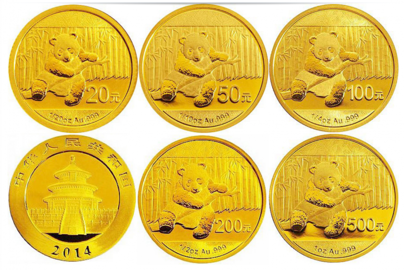 panda münzen gold
