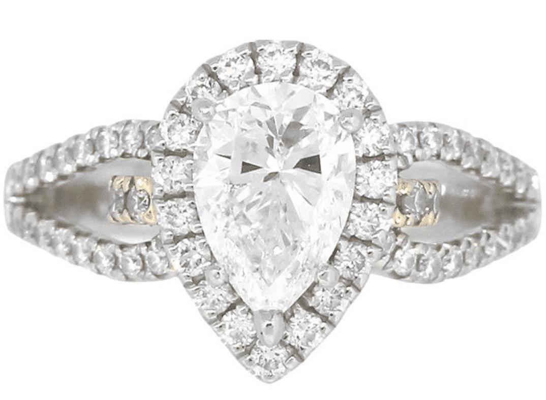 Weißgold Damen Diamant Ring