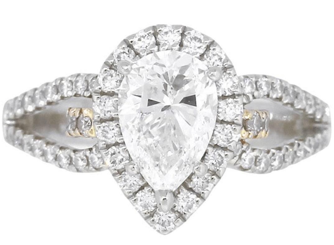 Weißgold Diamantring